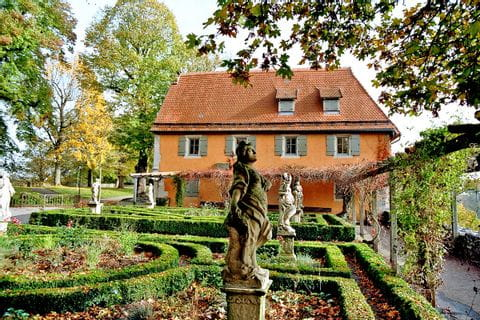 Burggarten auf Anwesen in Rothenburg
