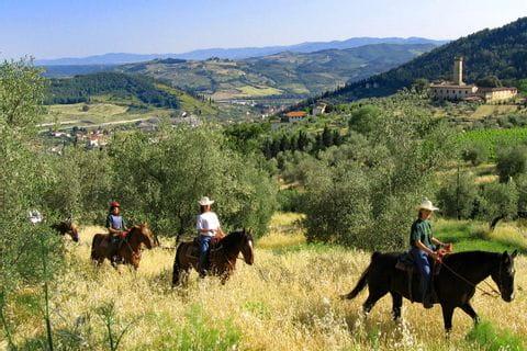 Ausritt durch die Hügellandschaft in der Toskana