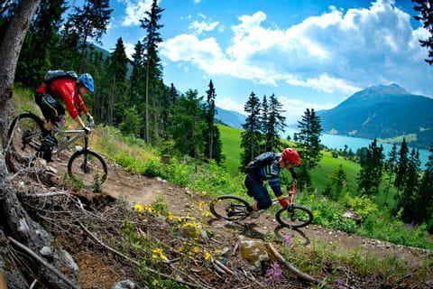 Mountainbike Abfahrt