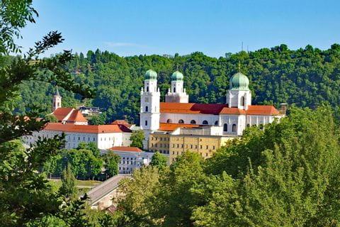 Blick auf den Dom St. Stephan in Passau