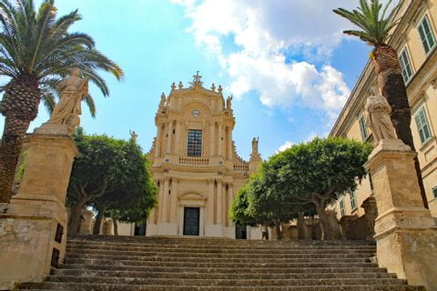 View over the Chiesa San Giovanni Modica