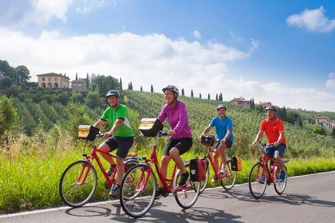 Radfahrer in der Toskana