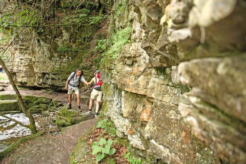 Hiking through the impressive Wutachschlucht