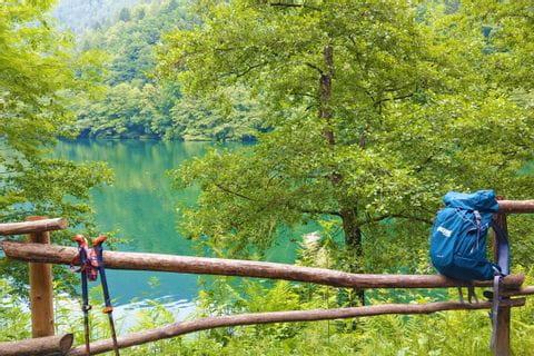 Wanderung am Lago di Levico in Valsugana