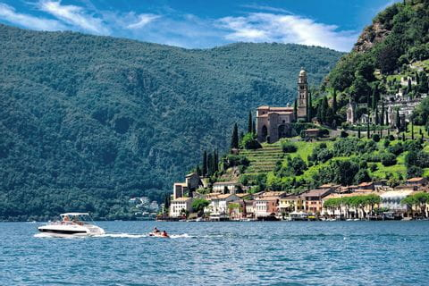 Boat trip at the Lake Lugano