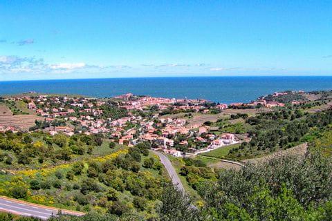 Fabelhafte Wanderaussicht auf den Startetappenort Collioure