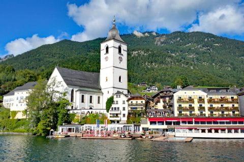 Blick auf St. Wolfgang am schönen Wolfgangsee