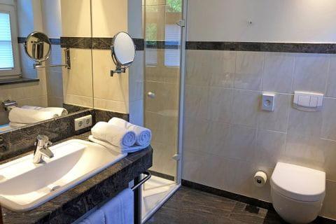 Hotel Wasserschloss Mellenthin Badezimmer
