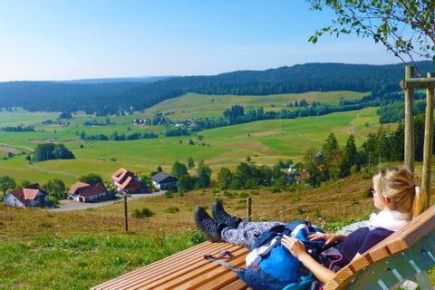 Hiking break at the Schluchtensteig