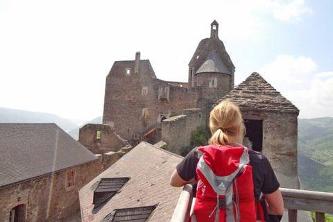 Wandern auf die Burgruine Aggstein