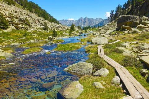 Wanderpfad durch die Pyrenäen