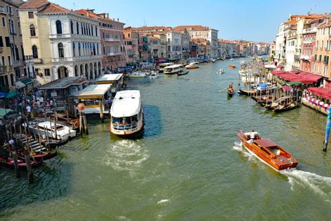 Canal Grande with view from the Rialto bridge in Venice