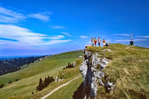 Hikers on the Chasseral