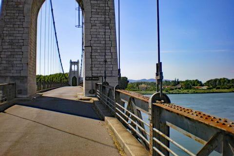 Hängebrücke in La Voulte-sur-Rhone