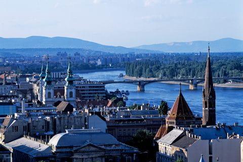 Blick über Budapest und die Donau