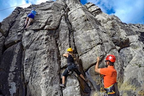 Klettern am Naturfels in Madeira