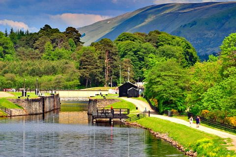Kaledonischer Kanal am Great Glen Way