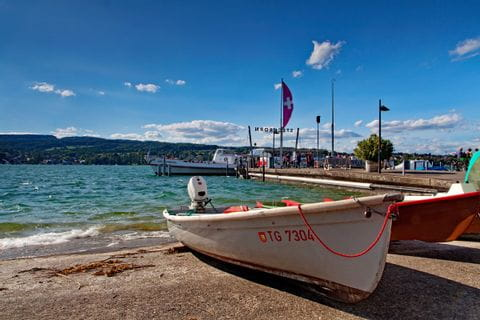 Boote im Hafen von Steckborn am Bodensee