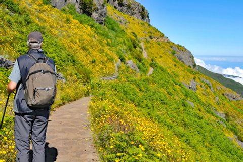 Wanderer auf der Vulkaninsel Maderia