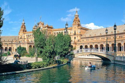 View to Plaza de Espana in Seville