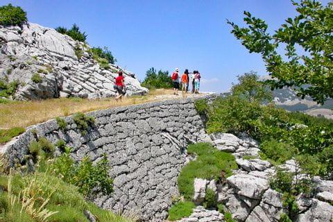 Wandergruppe im Lovcen Nationalpark