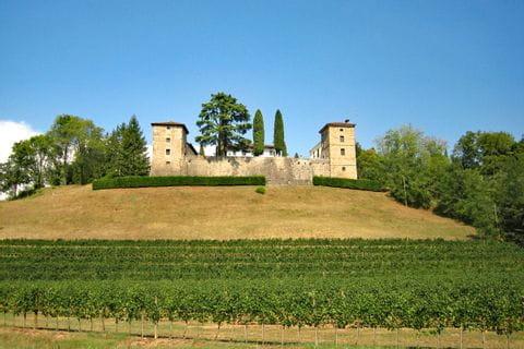 Burg auf Anhöhe