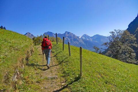 Mountain climb at the Canton of Uri