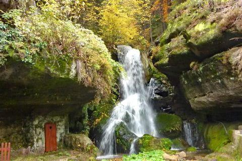 Bezaubernder Lichtenhainer Wasserfall