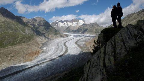 Ende des Aletschgletschers