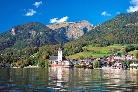 Ausblick auf St. Wolfgang am Wolfgangsee