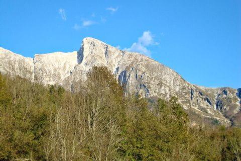 Bergpanorama Krn in den Julischen Alpen