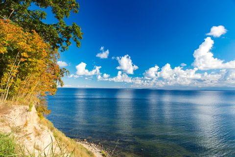 Ausblick auf das Meer auf Usedom