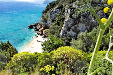 Malerischer Küstenblich in Sardinien