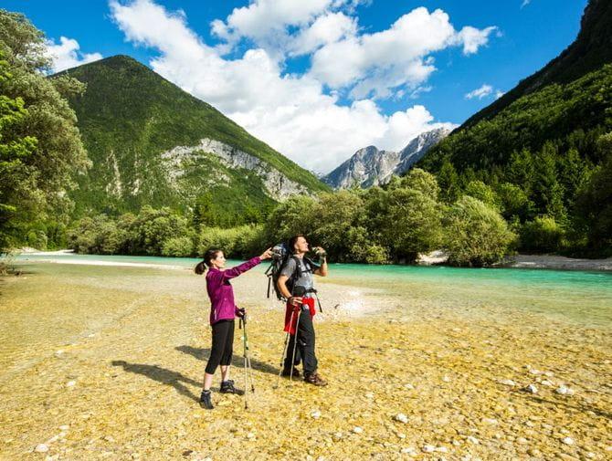 Wandererlebnis am Fluss Soca